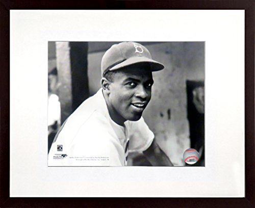 LA/Brooklyn Dodgers Jackie Robinson Circa 1945 8x10 Photograph (SGA UnderFifty Series) Framed ()