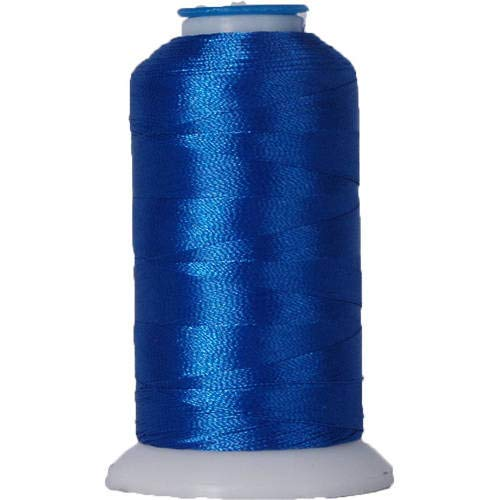 Threadart Polyester Machine Embroidery Thread By the Spool - No. 934 - Electric Blue - 1000M - 40wt - 220 Colors Available ()