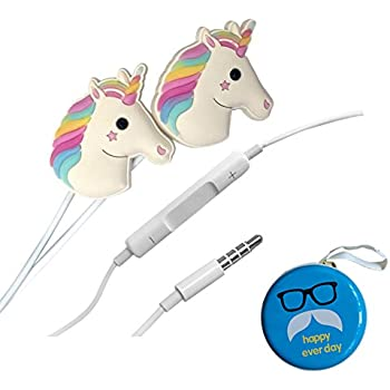 Amazon.com: LGT Cartoon Earphone 3D Cute Animal Unicorn