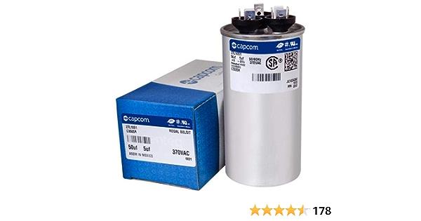 fits Comfortmaker # 1172291 45//7.5 uf MFD 370//440 Volt VAC ClimaTek Round Capacitor