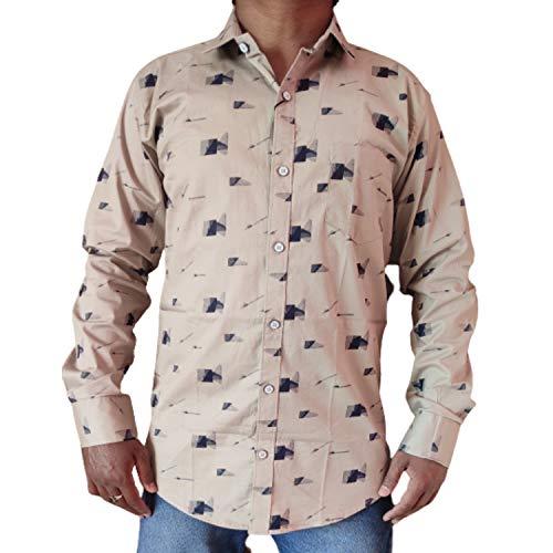Men Cotton Casual Shirts Slimfit  Grey