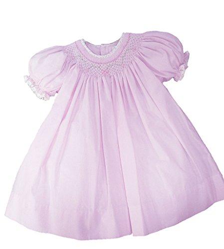 petit-ami-pink-gingham-smocked-bishop-dress-with-floral-trim-3-6-months