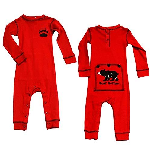 Bear Bum Kids Flapjack Onsie Pajamas by LazyOne | Adult Kid Infant Dog Family Matching Pajamas (4T) (Pajamas Bum Bear)