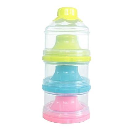 STOBOK Dispensador formal de leche en polvo para bebé con 3 capas de gran capacidad portátil