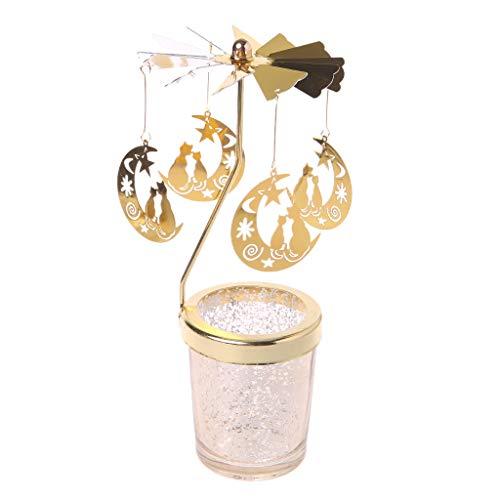 (Mimgo Tealight Spinner, Christmas Rotating Spinning Carousel Tea Light Candle Holder Center Home Decor Gifts )