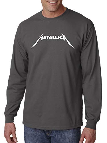 New Way 925 - Unisex Long-Sleeve T-Shirt Metallica Metal Rock Band Logo 2XL Charcoal