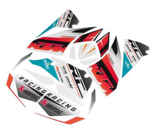 """NEW OEM KTM """"Race"""" Graphics Kit 2014-2016 RC 125 200 250 390 90208999000"""
