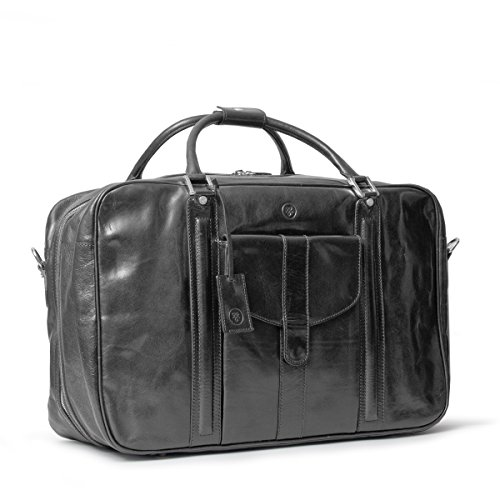 Maxwell Scott Luxury Black Leather Suitcase Bag for Men (The Maurizio) by Maxwell Scott Bags (Image #2)