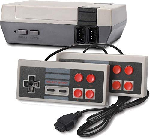 Arrocent Retro Game Console, Classic 8-bit Video Game Built-in 620 Games with 2 Controllers for NES Style (NOT OEM, AV Output)