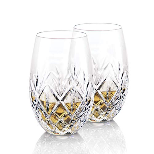 Glass Crystal Wine Waterford White - Waterford Crystal, Huntley Stemless Crystal White Wine Glasses, Pair