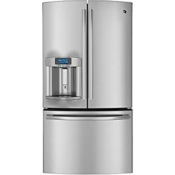 GE PYE23PSDSS Profile 23.1 Cu. Ft. Stainless Steel Counter Depth French Door Refrigerator - Energy Star