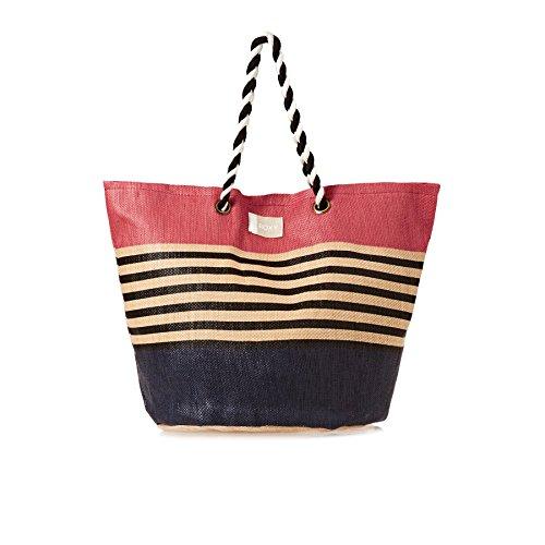 Roxy Sunseeker - Bolsa de Playa de Paja para Mujer ERJBT03084 Deep Cobalt Solid Multicolor