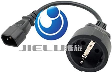 IEC 320 C14 to CEE 7//7 European Female Schuko Socket Adapter Cable,1 pcs Calvas UPS//PDU Power Lead