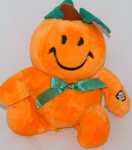 Tickle Wiggle Happy Smiley Face Pumpkin Electronic Halloween Toy ()