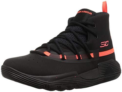 Under Armour Boys' Pre School SC 3Zer0 II Basketball Shoe, 001/Black, 2