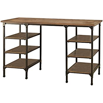 amazon com homelegance counter height metal writing desk with open