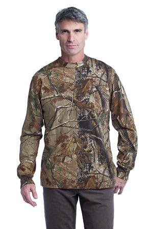100% Explorer Cotton (Russell Outdoors ™ Realtree Long Sleeve Explorer 100% Cotton T-Shirt with Pocket. S020R)