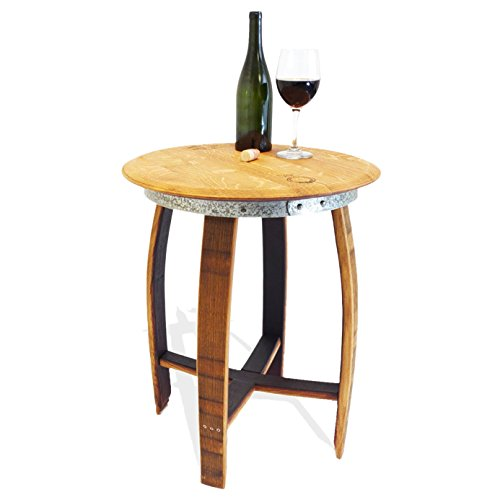 Isabella Side End Table - Wine Barrel Handcrafted - Central Coast Creations - Wine Barrel Furniture