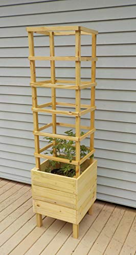 (Deck Tomato Planter Woodworking Plans. DIY Instruction guide includes photos at every step.)
