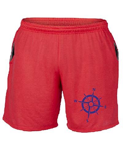 Sp0056 Rose T shirtshock Tuta Compass Pantaloncini Rosso qSwIZw81
