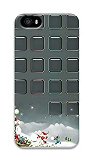 iPhone 5 5S Case Christmas Holidays Icon Tiles130 3D Custom iPhone 5 5S Case Cover