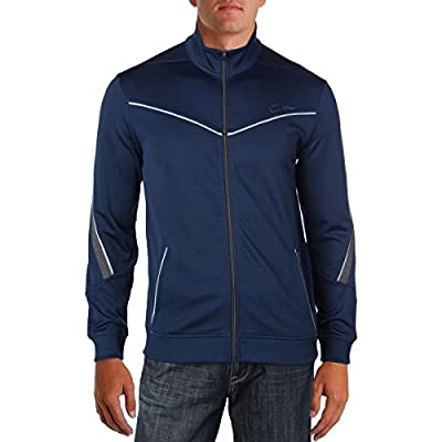 Calvin Klein Men's Performance Long Sleeve Core Mock Neck Track Jacket