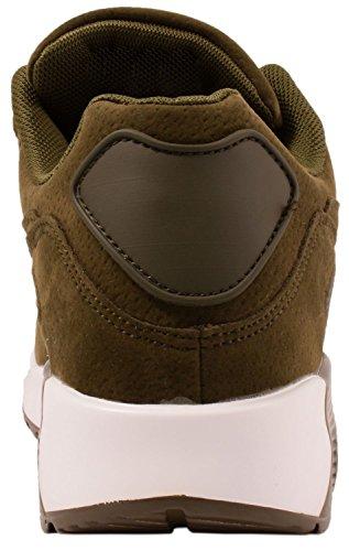 Elara Hochwertige Sneaker | Bequeme Herren Low Top Sportschuhe | Moderne Laufschuhe Turnschuhe | chunkyrayan Army Green Wildleder