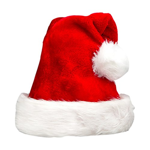 Olen Plush Santa Hats Christmas Hats for Adults and Kids
