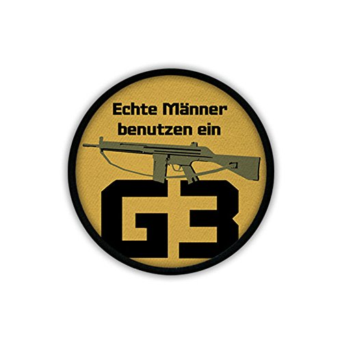 Men use a G3 morality Bundeswehr Humor Assault Rifle weapon 7.62mm - Patch/Patches