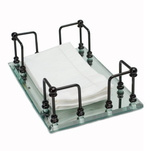 Mirrored Guest Towel Tray - 1