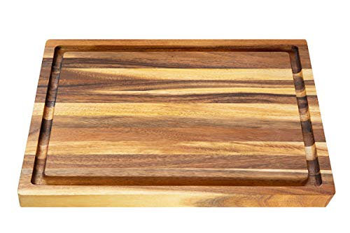(Villa Acacia Wood Carving Board 20x15 Inch Large with Juice Groove and)