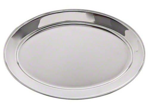 Oval Stainless Steel Platter (Update International (OP-16) 15 3/4