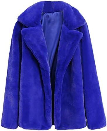 Sunmoot 2018 New Women Casual Warm Winter Long Lapel Leopard Print Faux Fur Coat