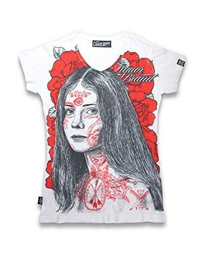 Para Brand Básico Mujer Logotipo Camiseta Liquor Redondo WPnq17T7v