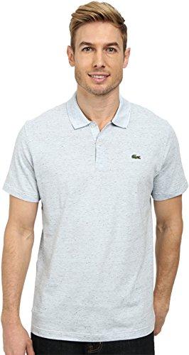 Lacoste Men's L!Ve Jaspe Jersey Slim Fit Fancy Polo Rill Light Blue Polo Shirt XS (EUR 3)