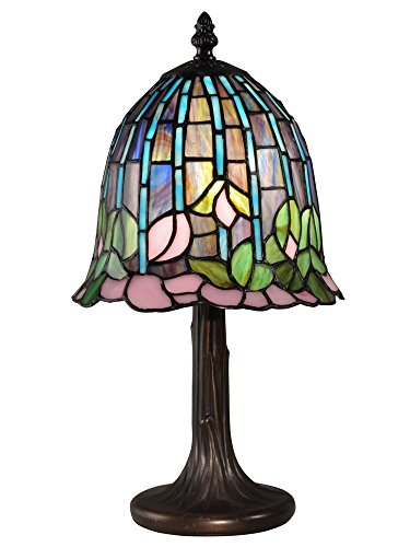 Dale Tiffany TA15056 Lotus Tiffany Accent Table Lamp Antique Bronze