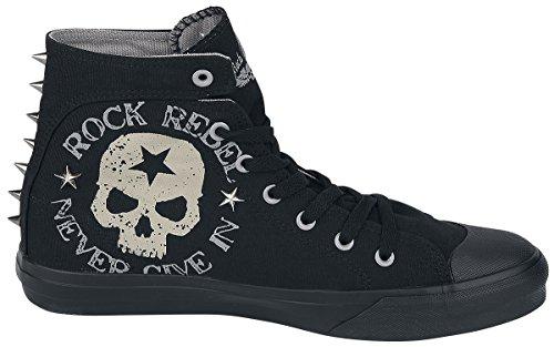 Tachuellas Skull Zapatillas By Rebel Con Emp Eu43 Rock Negro nxa1wY