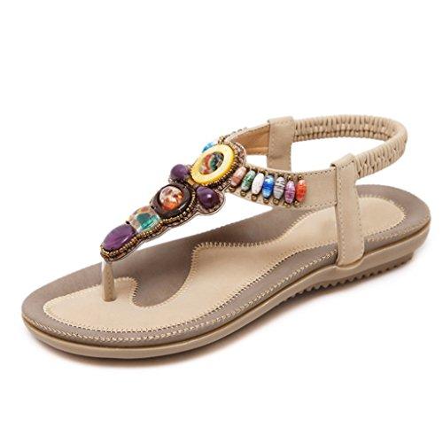 sandalias T Mujer Zapatillas Firm 42 Playa Bei Abierta Sandalias Bao Xing Punta boho Planos De tacones size wInSqx7Yx