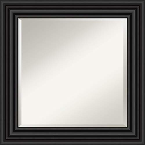 Amanti Art Vanity Bathroom Colonial Black Frame | Wall Mounted Mirror, Glass Size 20x20,