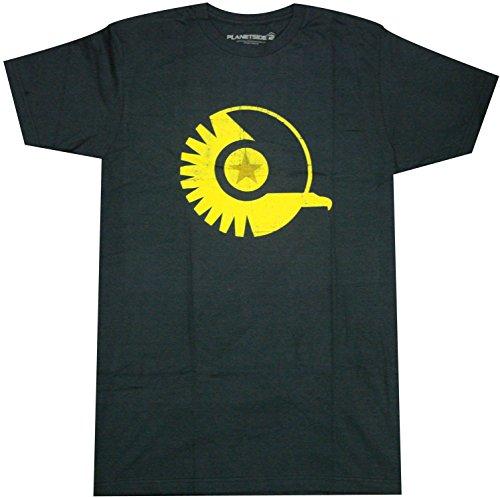 Planetside 2 New Conglomerate Logo Premium Adult T-Shirt (X-Large, Navy Blue) -  JINX, SEPS-05199M-NV-XL