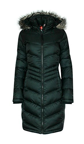 Black Winter Ski - Columbia Womens Polar Freeze Long Down Jacket Omni Heat BLACK Winter Coat (medium)
