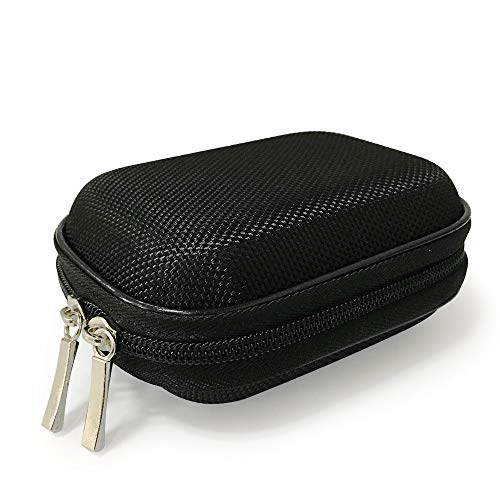 Earphone Case Portable Oxford Bag Holder with Two-Way Zipper for IEM BTE Hearing Aids, Earmold, Hearing Protector and Most Earphones ()