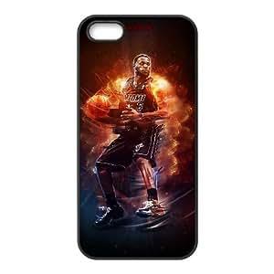 Lebron James 009 iPhone 5 5S Caso funda Cubierta Negro caja del teléfono celular Funda Cubierta EOKXLLNBC00417