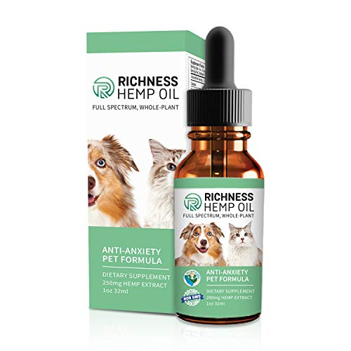 Richness Full Spectrum Organic Hemp Oil for Dogs, Cats and P