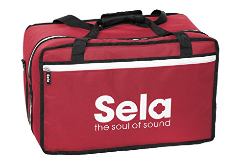 Sela SE 038 Padded Bag for All Standard-Sized Cajons, Red