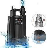 TACKLIFE Submersible Sump Pump, 1/3 HP Automatic Water...