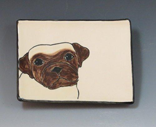 Handmade Ceramic Soap Dish with Pug