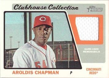 2015-topps-heritage-clubhouse-collection-relics-ccr-ac-aroldis-chapman-game-worn-jersey-baseball-car