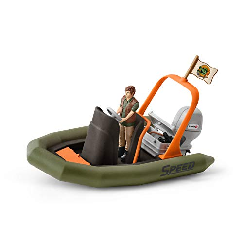 Schleich Wild Life Dinghy with Ranger Toy Figure