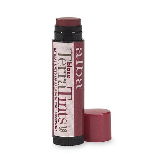 Alba Terra Tints Natural Tinted Lip Balm SPF8, Blaze 0.15 oz (4.2 g)